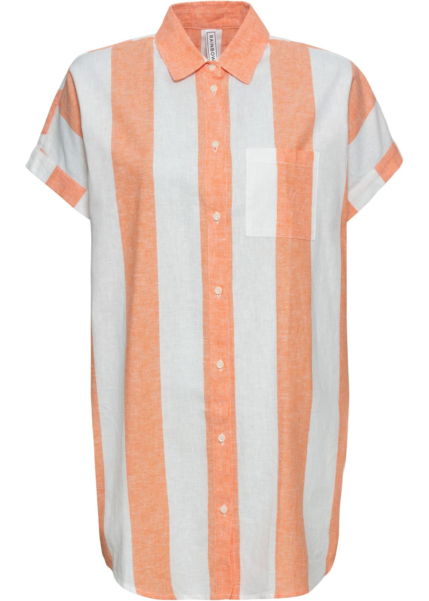 Longbluse langarm  in orange (Rundhals) für Damen von bonprix