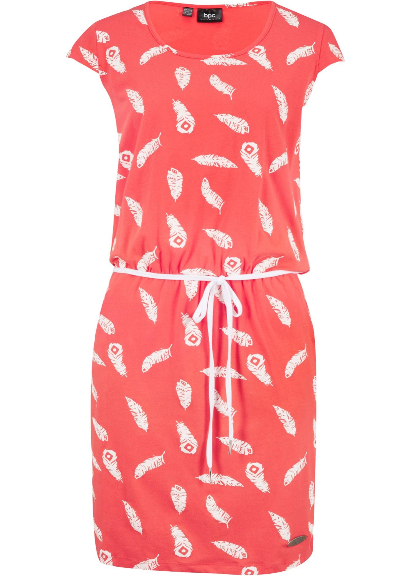 Shirtkleid kurzer Arm  in rot für Damen von bonprix