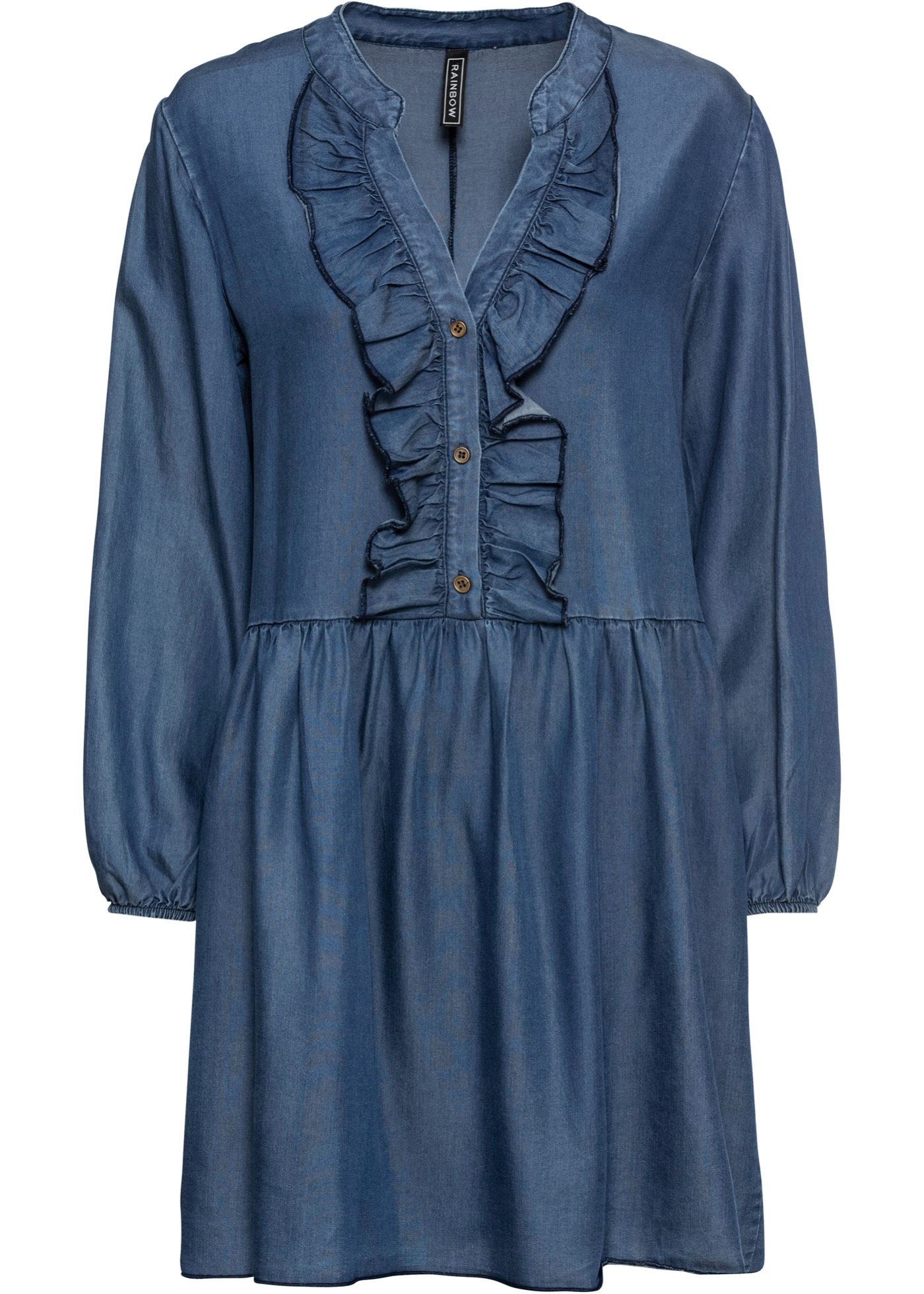 Jeanskleid langarm  in blau für Damen von bonprix