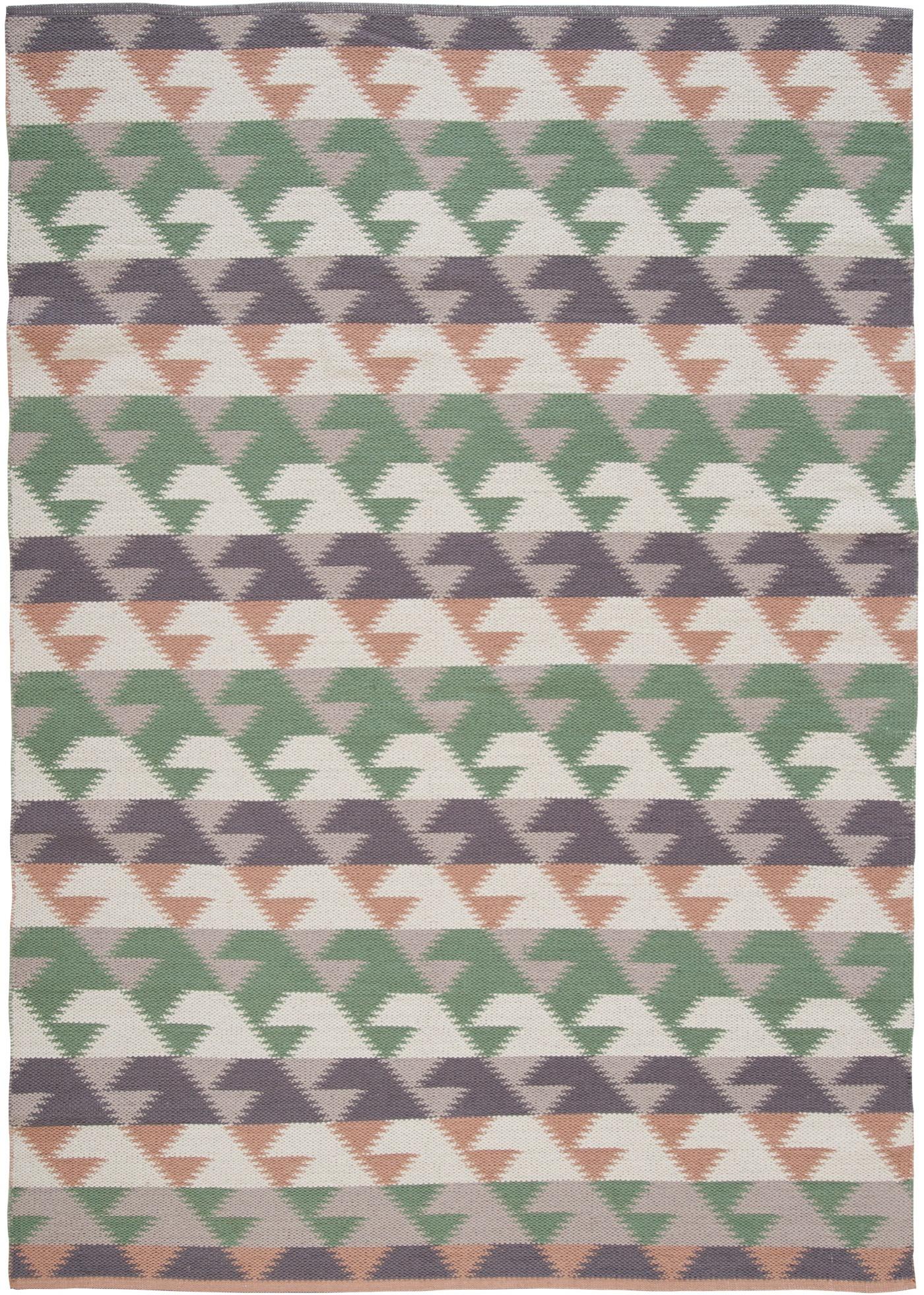 Kelim-Teppich mit geometrischer Musterung in grün von bonprix