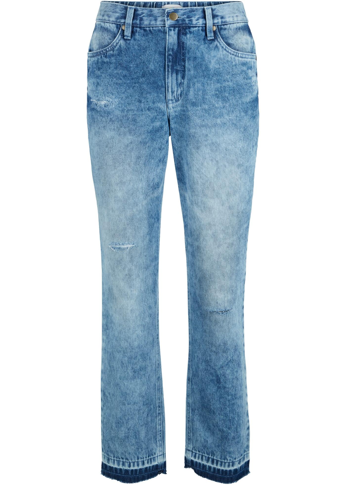 Nachhaltige Jeans aus Bio- Baumwolle in blau für Damen von bonprix