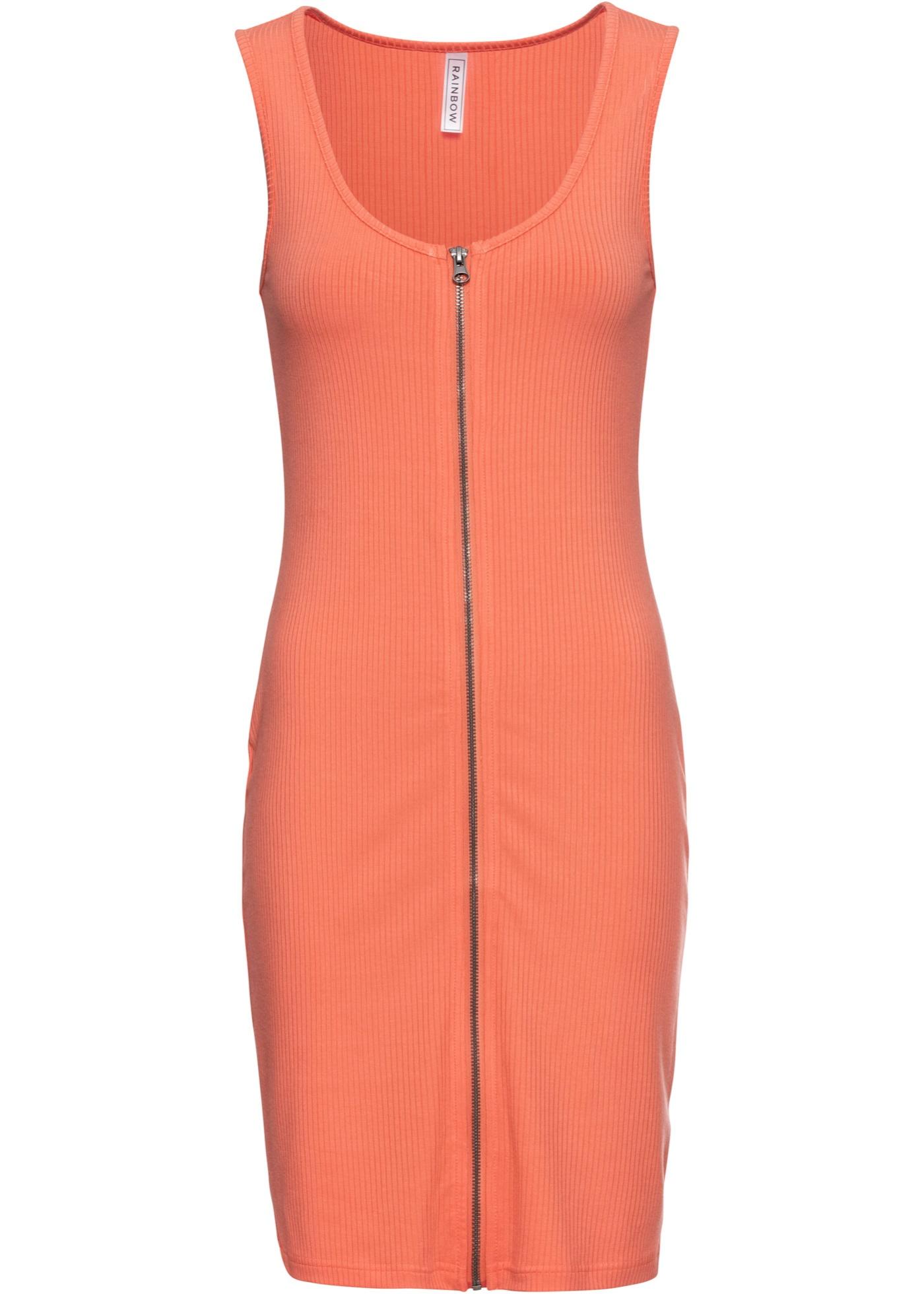 Jerseykleid ohne Ärmel  in orange für Damen von bonprix