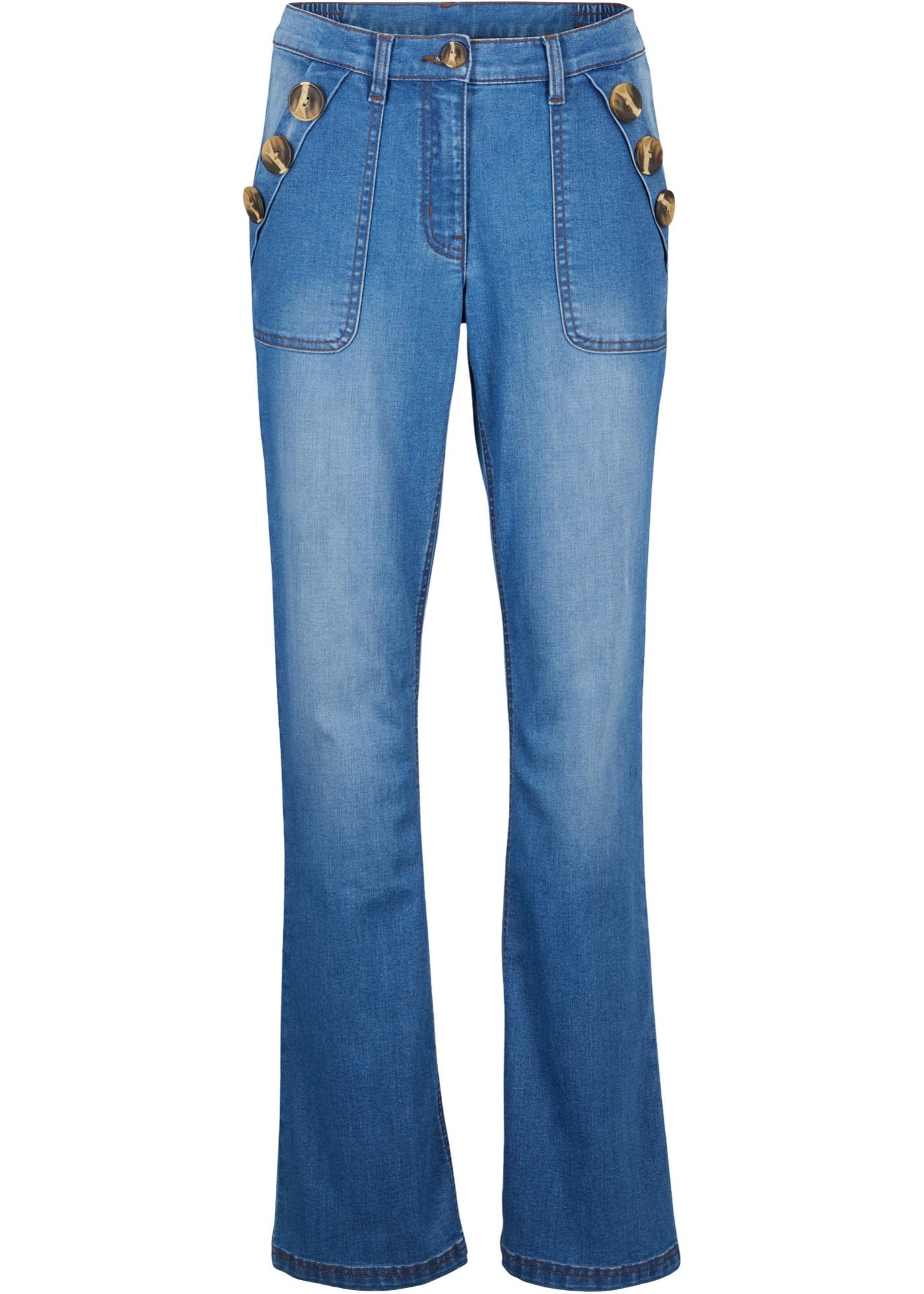Nachhaltige Jeans, Recycled Polyester, Bootcut in blau für Damen von bonprix