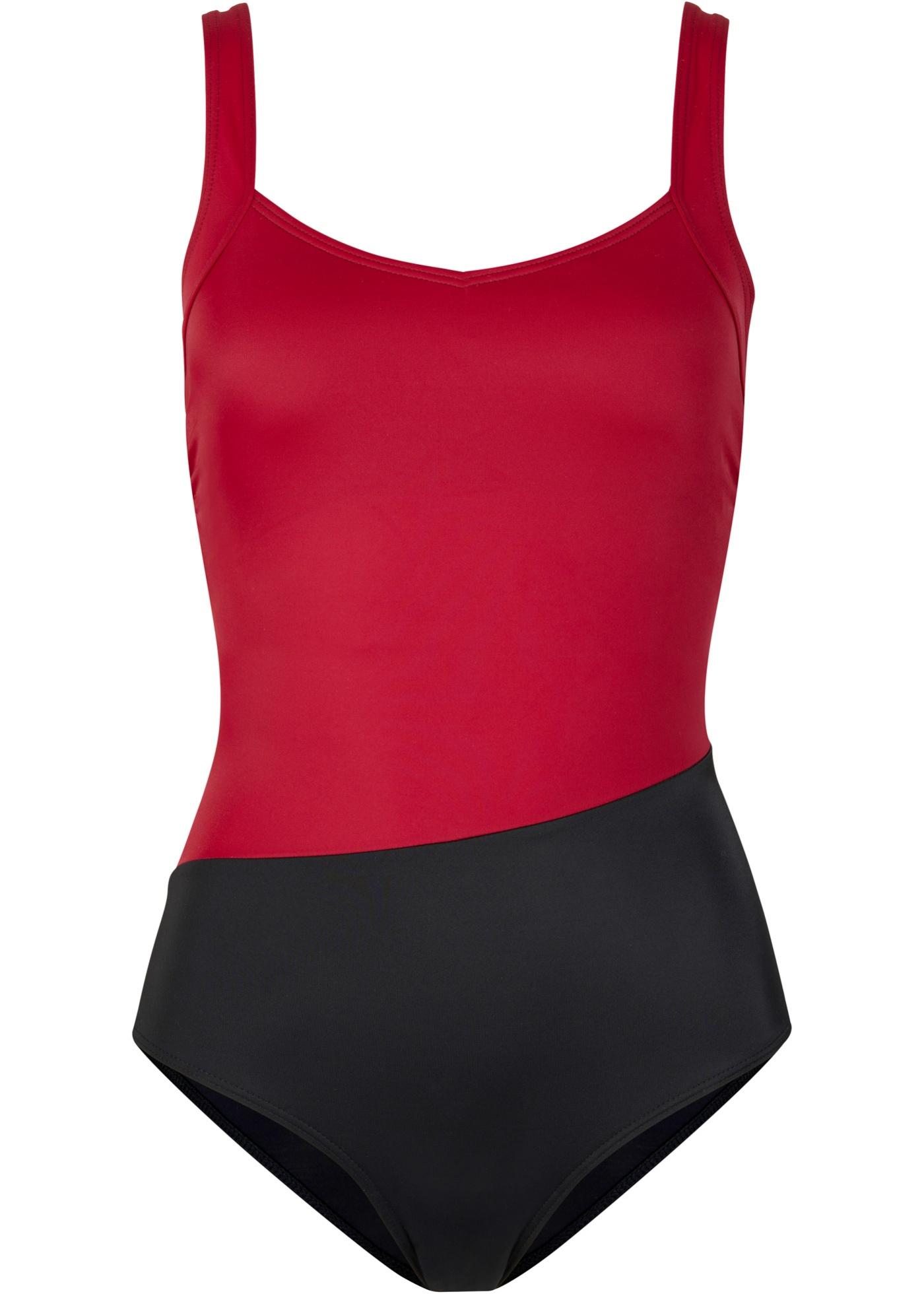 Badeanzug nachhaltig in schwarz für Damen von bonprix