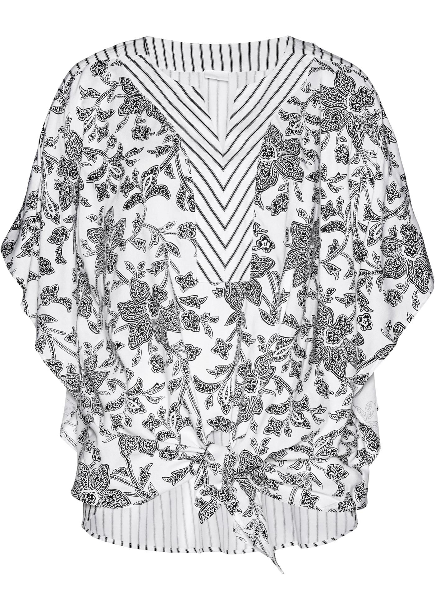 Tunika kurzer Arm  in schwarz (Rundhals) für Damen von bonprix