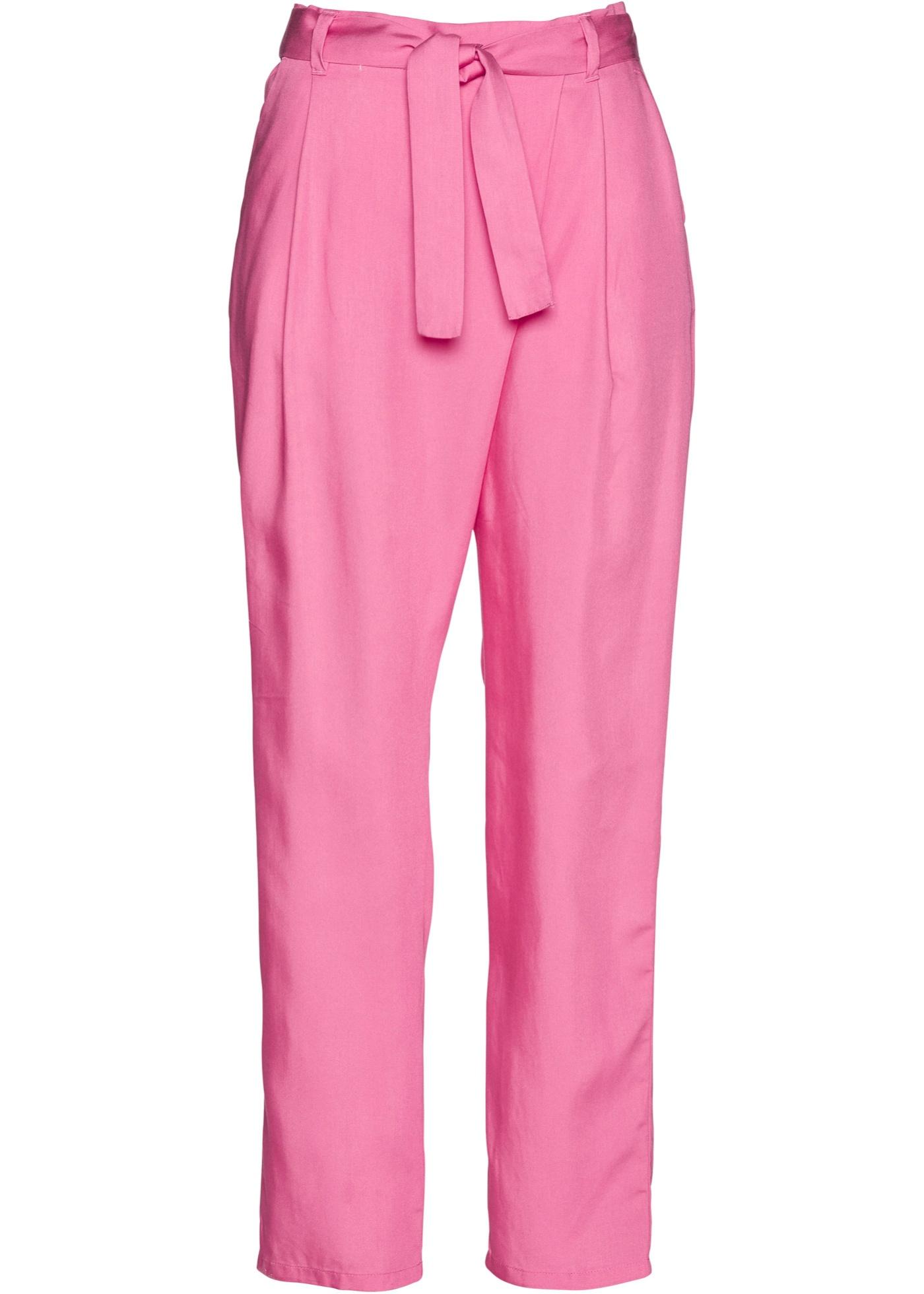 Bundfaltenhose aus TENCEL™ Lyocelll in pink für Damen von bonprix