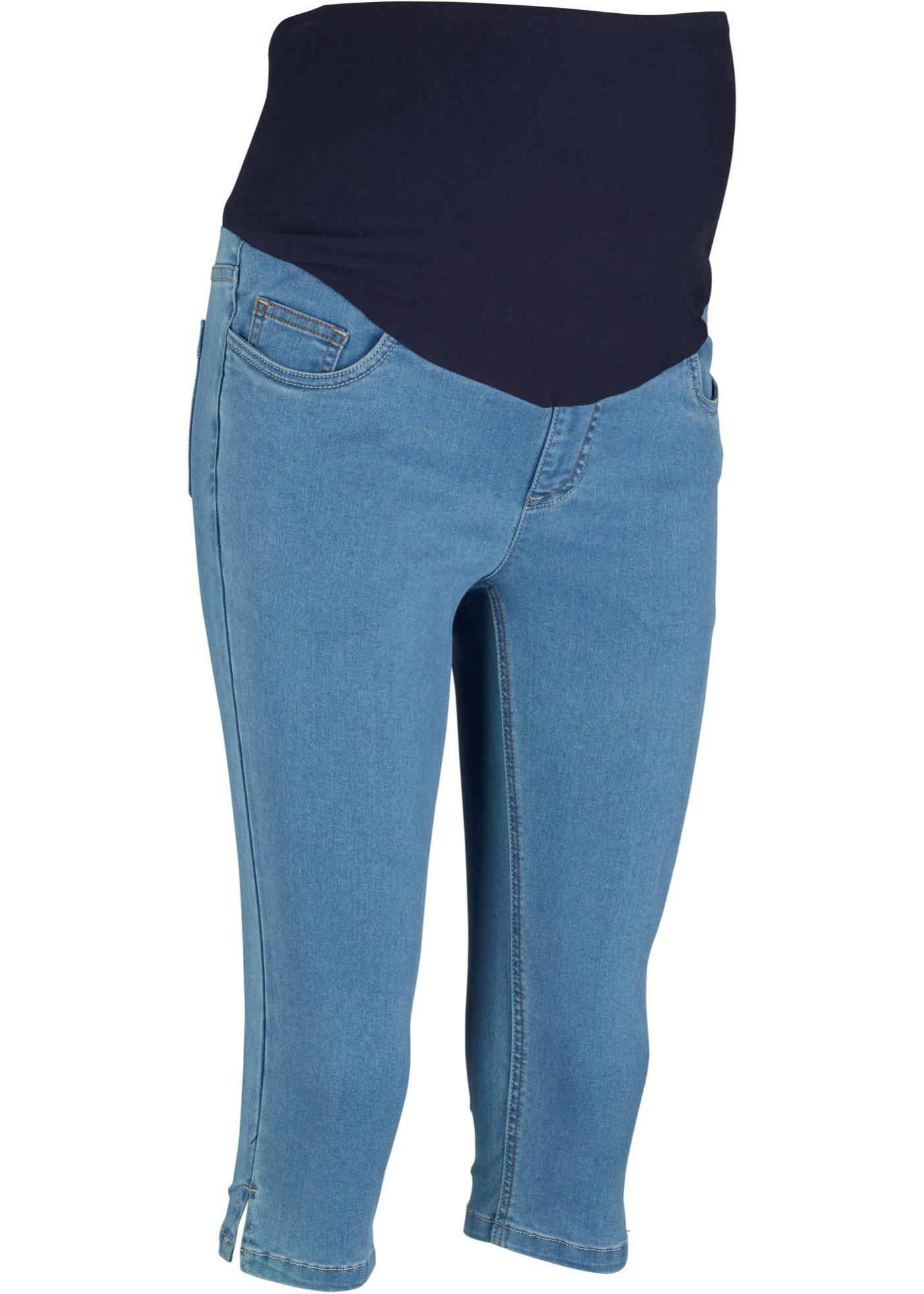 Umstands-Capri-Jeans in blau für Damen von bonprix