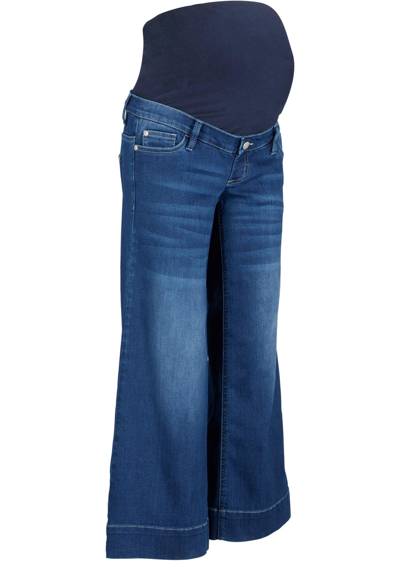 Umstandsjeans, Culotte in blau für Damen von bonprix