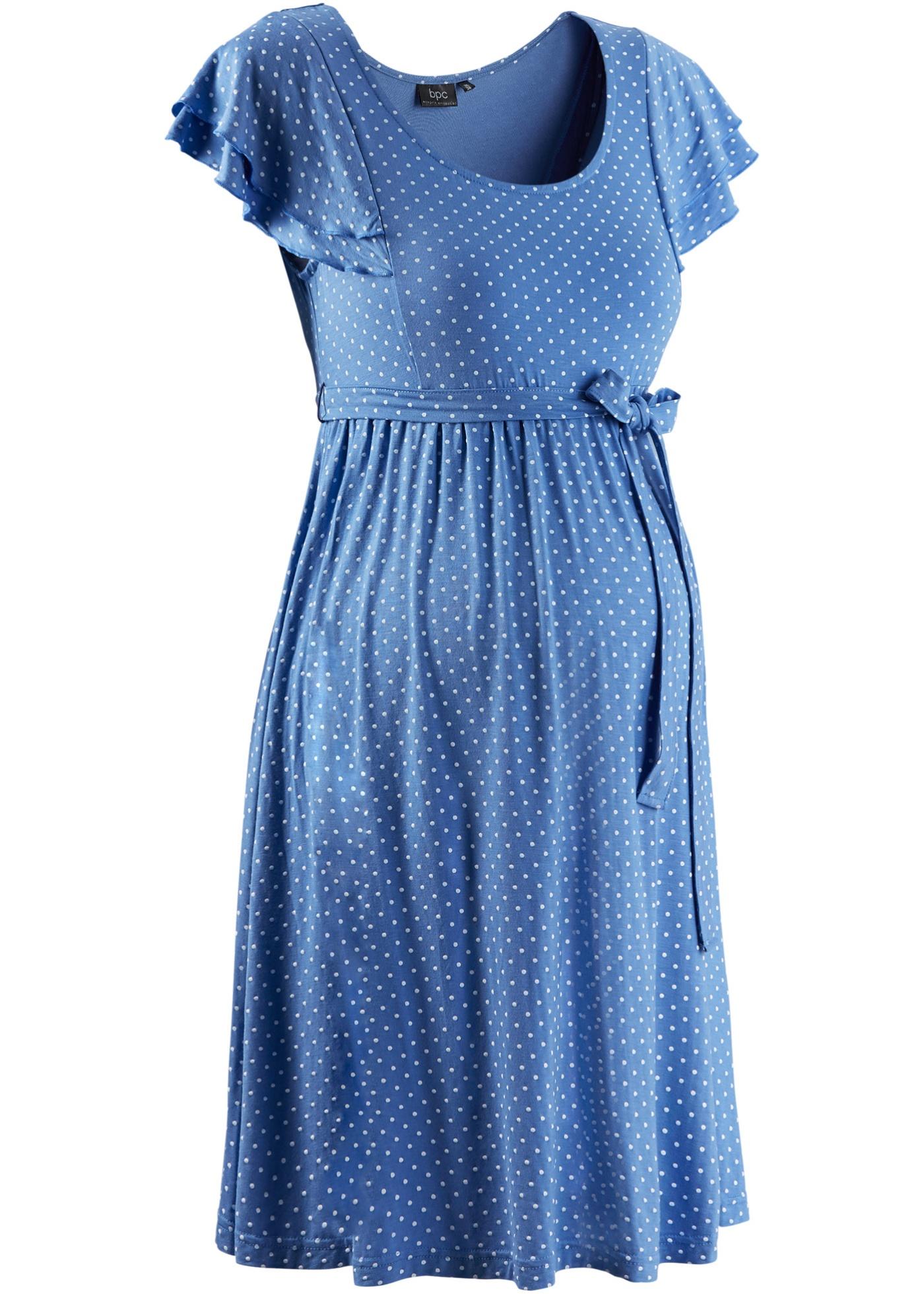 Shirt-Umstandskleid kurzer Arm  in blau für Damen von bonprix
