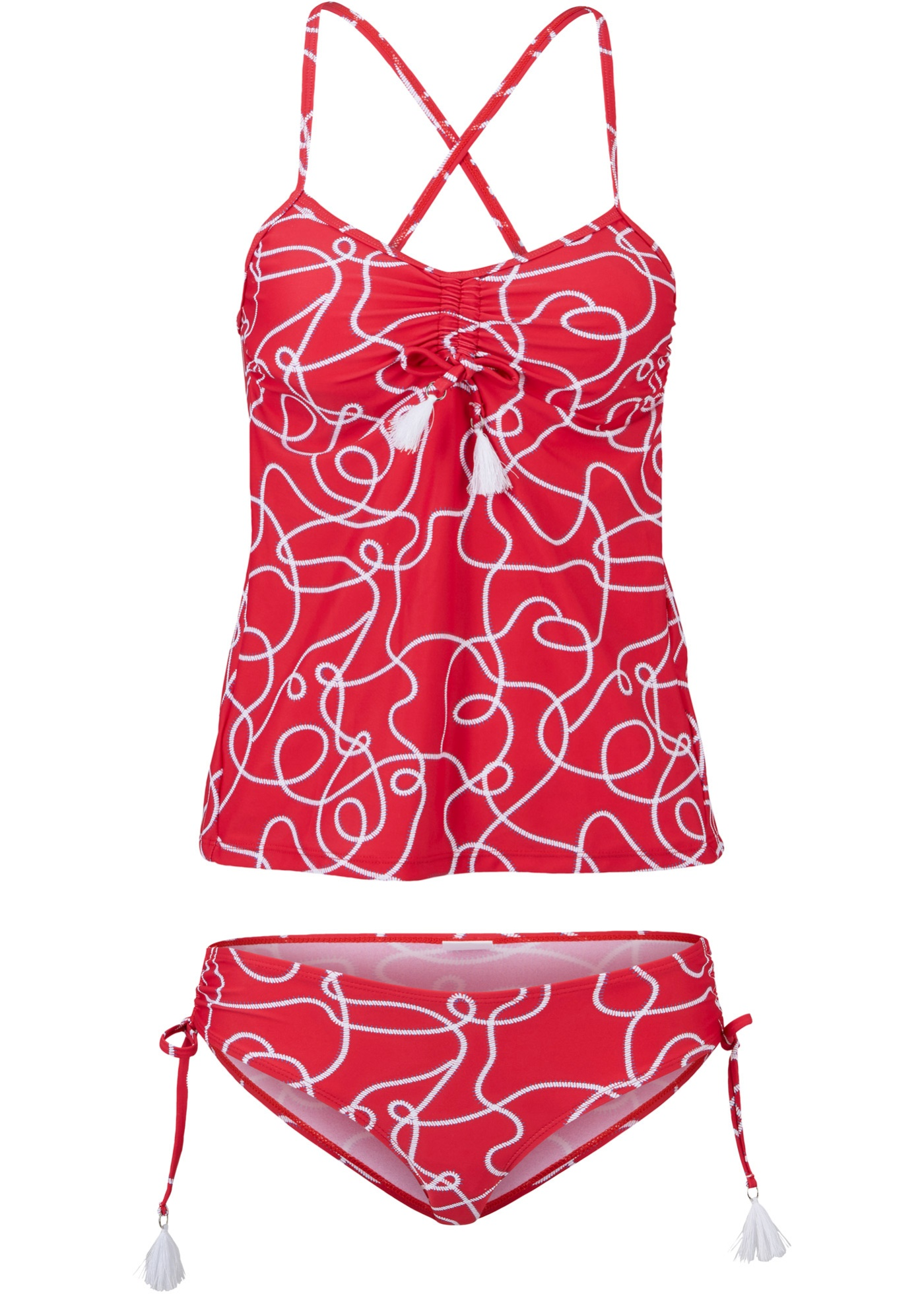 Tankini (2-tgl.) Set in rot für Damen von bonprix