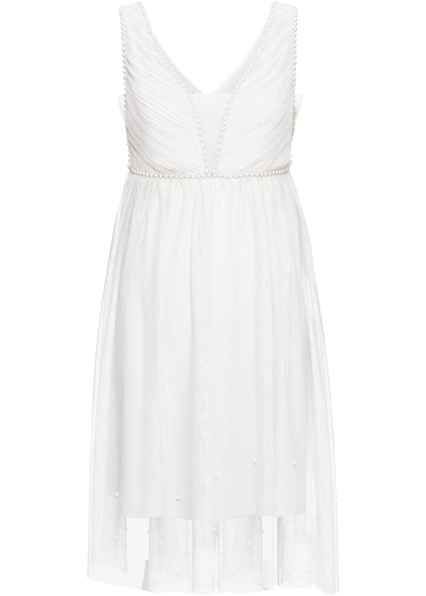 Brautkleid ohne Ärmel  in weiß (herzförmiger Ausschnitt) für Damen von bonprix