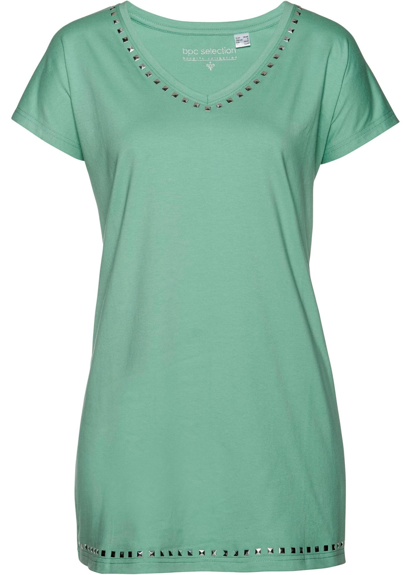Longshirt Flügelärmel  in grün (V-Ausschnitt) für Damen von bonprix