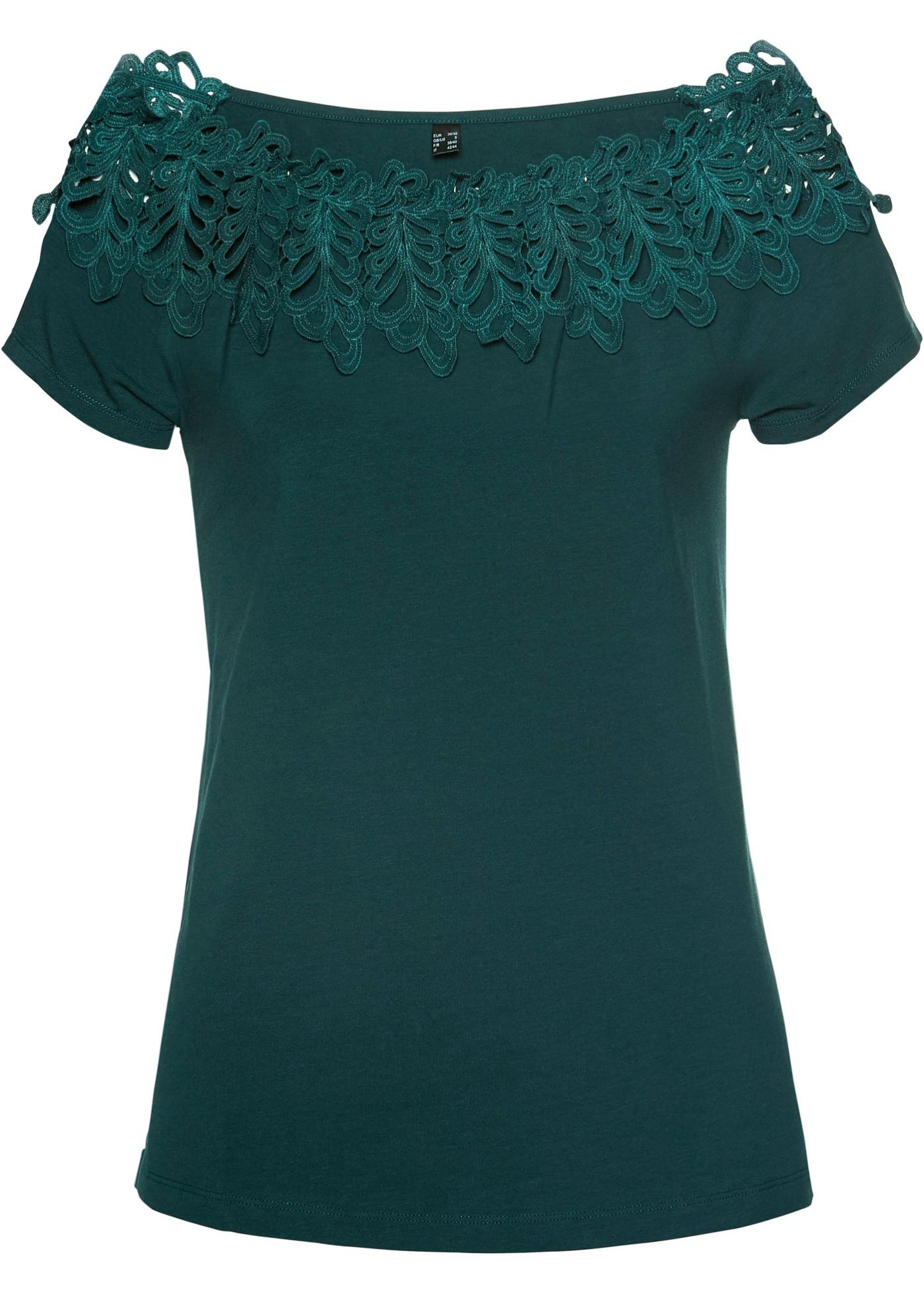 Carmenshirt in grün für Damen von bonprix