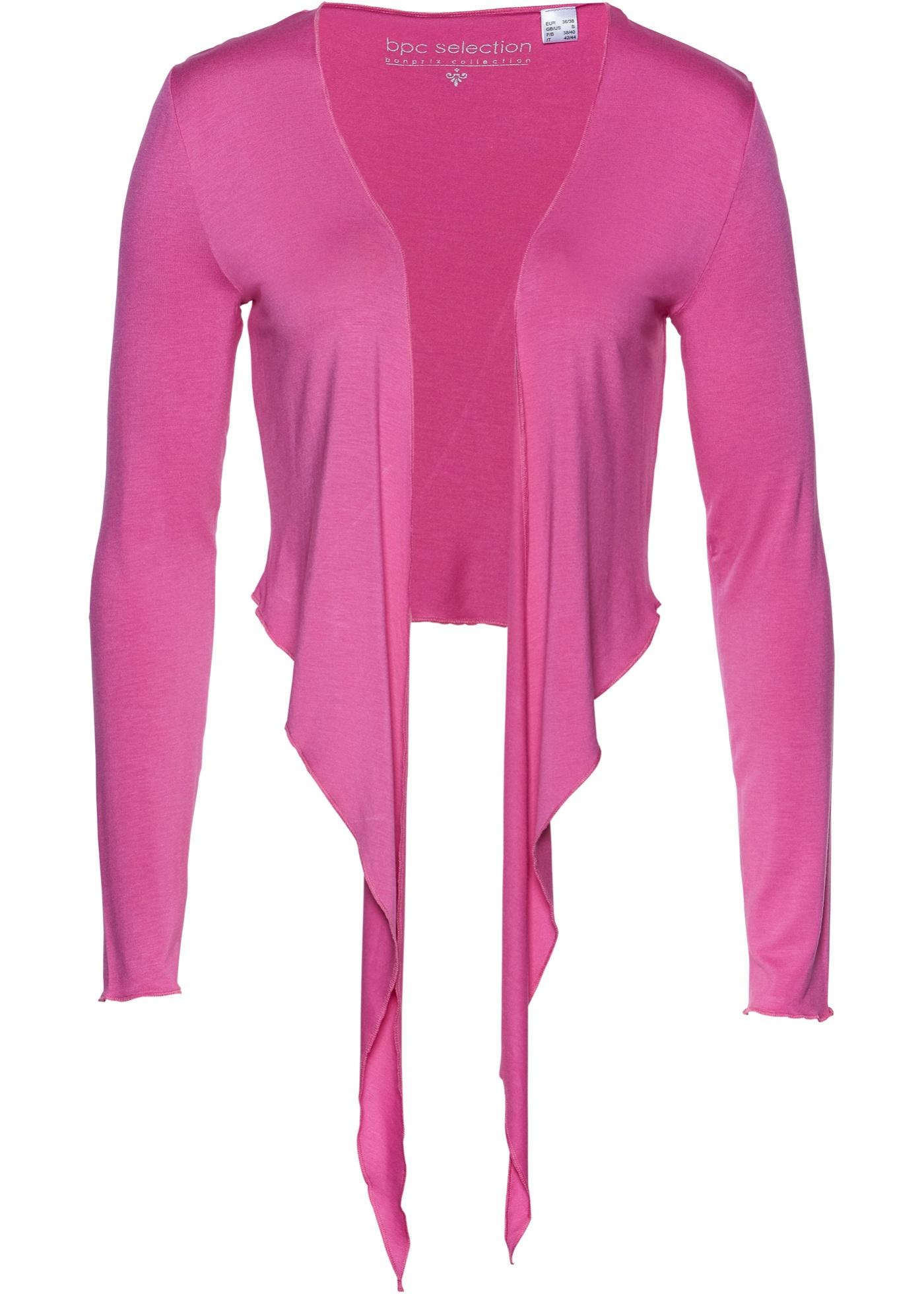 Jersey Bolero langarm  in pink für Damen von bonprix