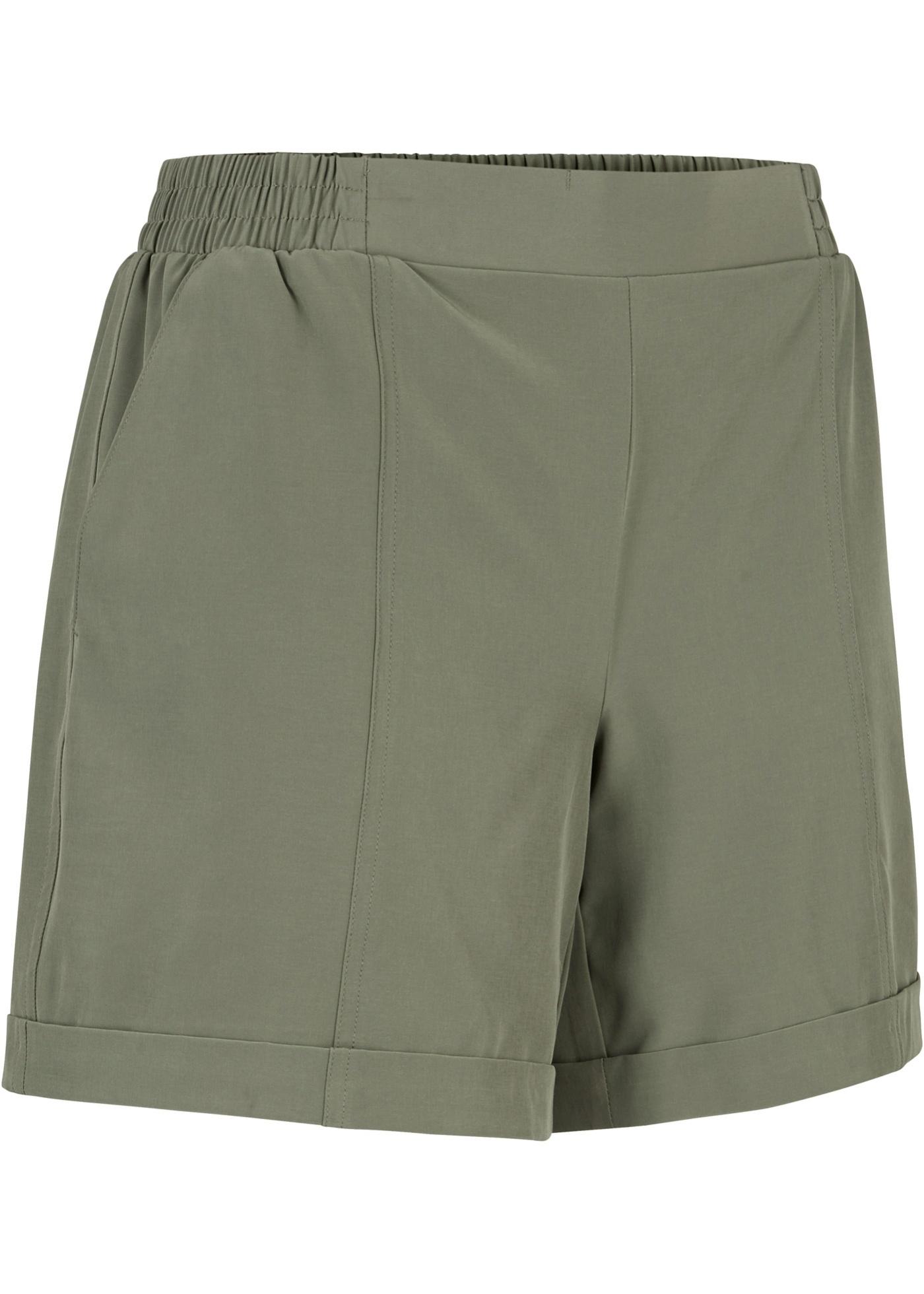 Lässige Funktions-Shorts, kurz in grün für Damen von bonprix
