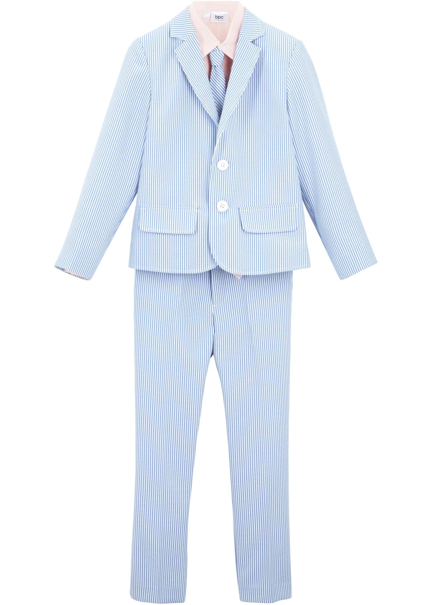 Anzug (4-tlg. Set) in blau für Jungen von bonprix