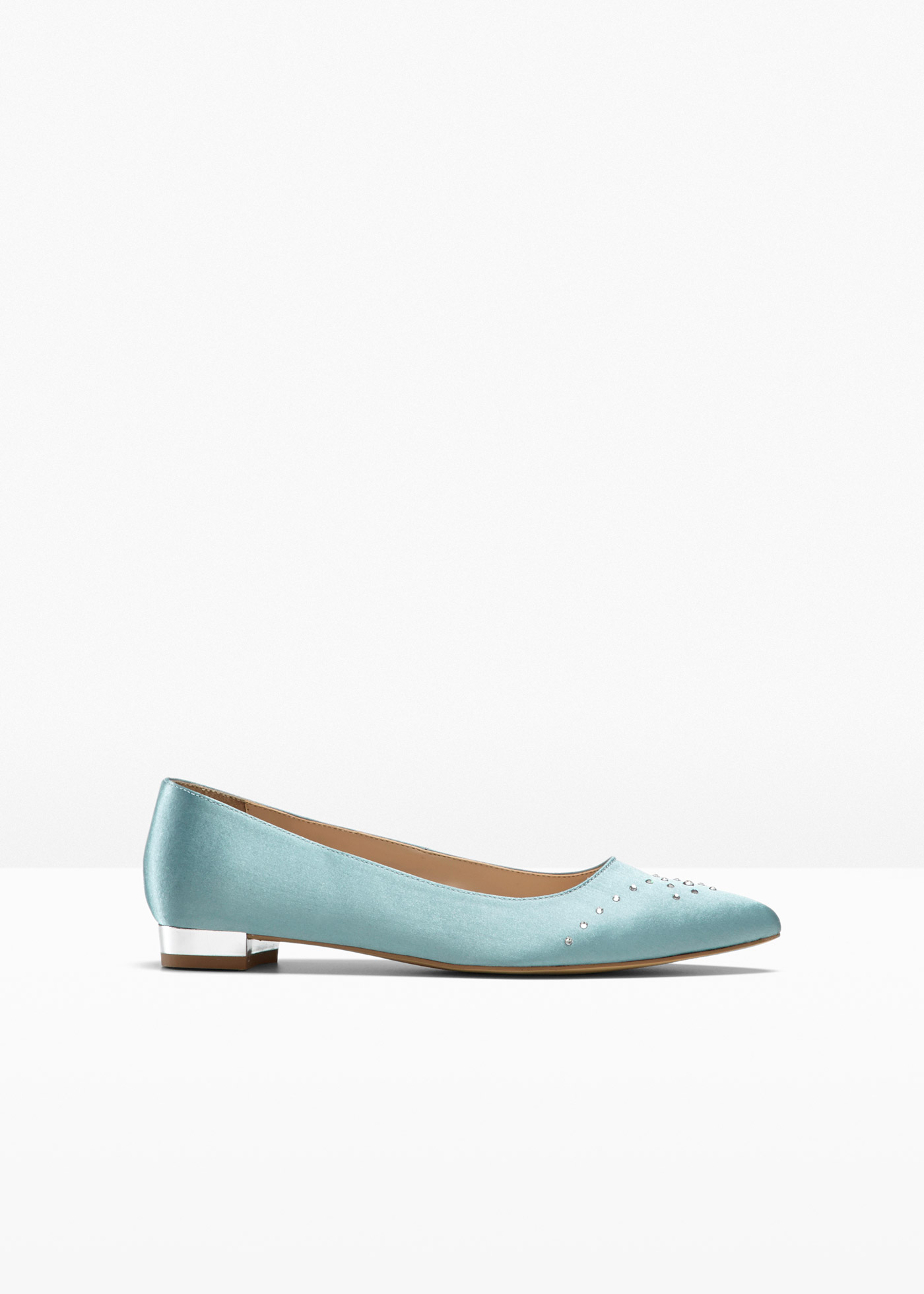 Ballerina veredelt mit Swarovski ® Kristallen in blau für Damen von bonprix
