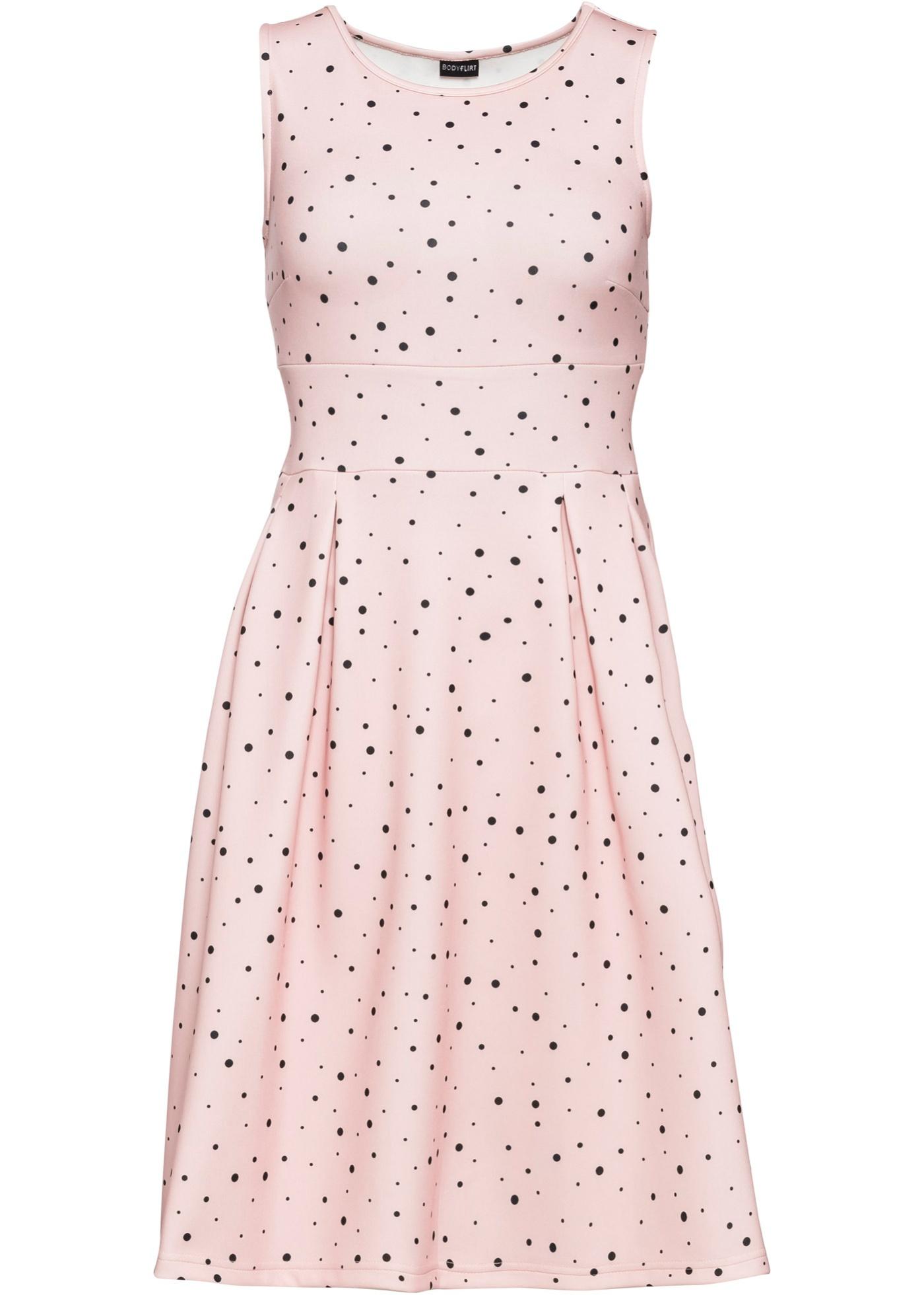 Jerseykleid ohne Ärmel  in rosa für Damen von bonprix