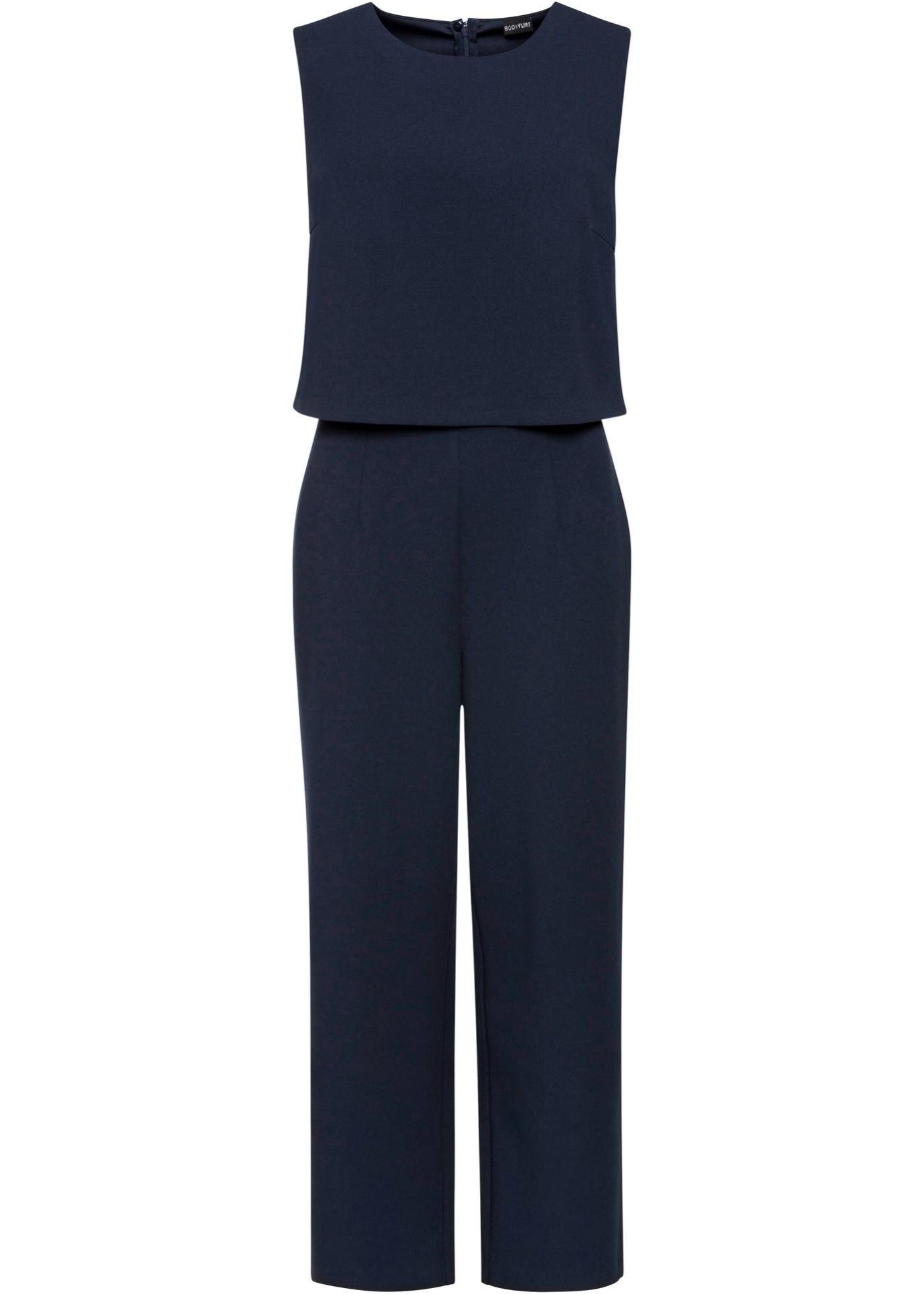 Jumpsuit ohne Ärmel  in blau (Rundhals) für Damen von bonprix