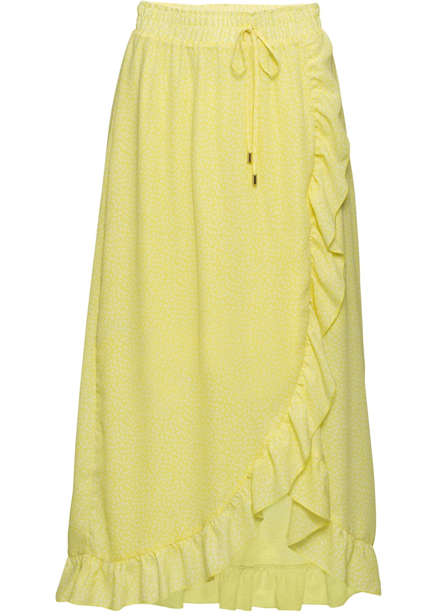 Fließender Rock in gelb für Damen von bonprix
