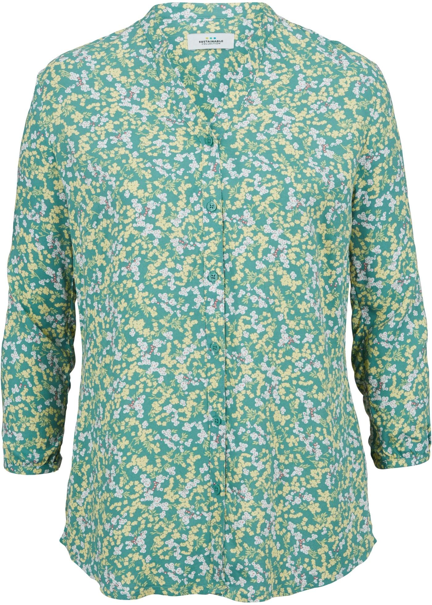 Nachhaltige Bluse LENZING™ ECOVERO™ 3/4 Arm  in blau für Damen von bonprix