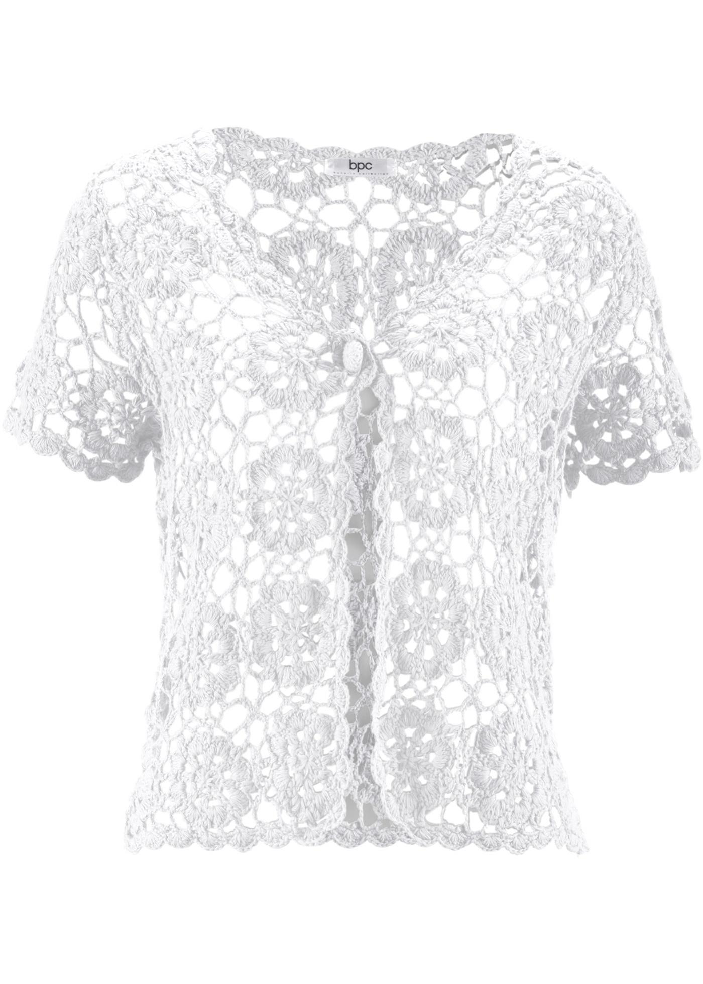 Häkel-Bolero kurzer Arm  in weiß für Damen von bonprix