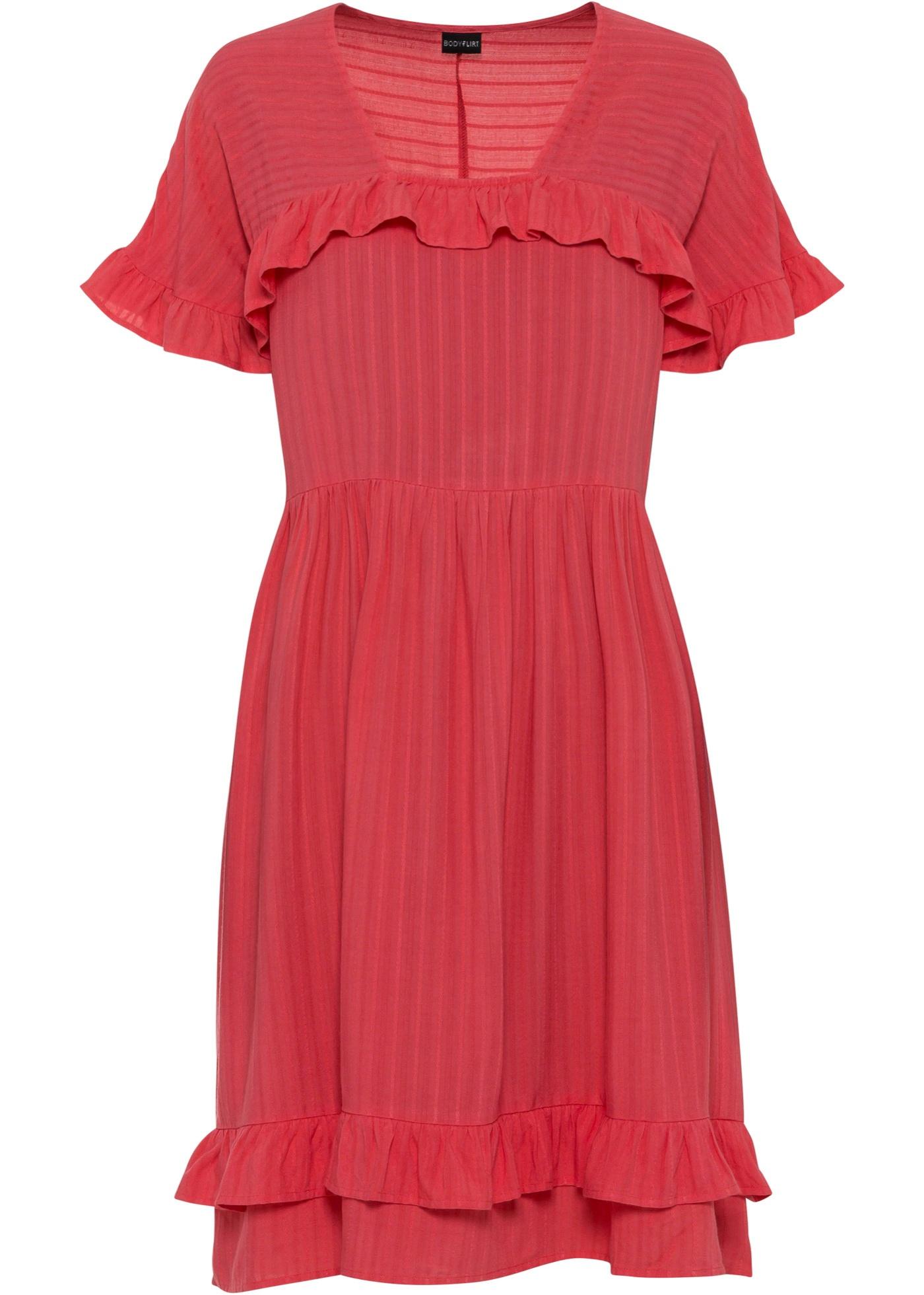Kleid kurzer Arm  in pink für Damen von bonprix