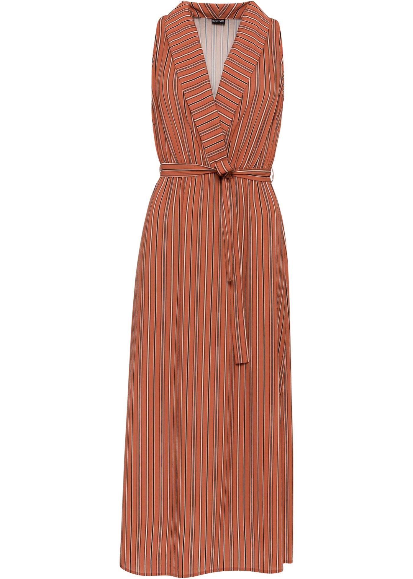 Kleid in Wickeloptik ohne Ärmel  in braun für Damen von bonprix