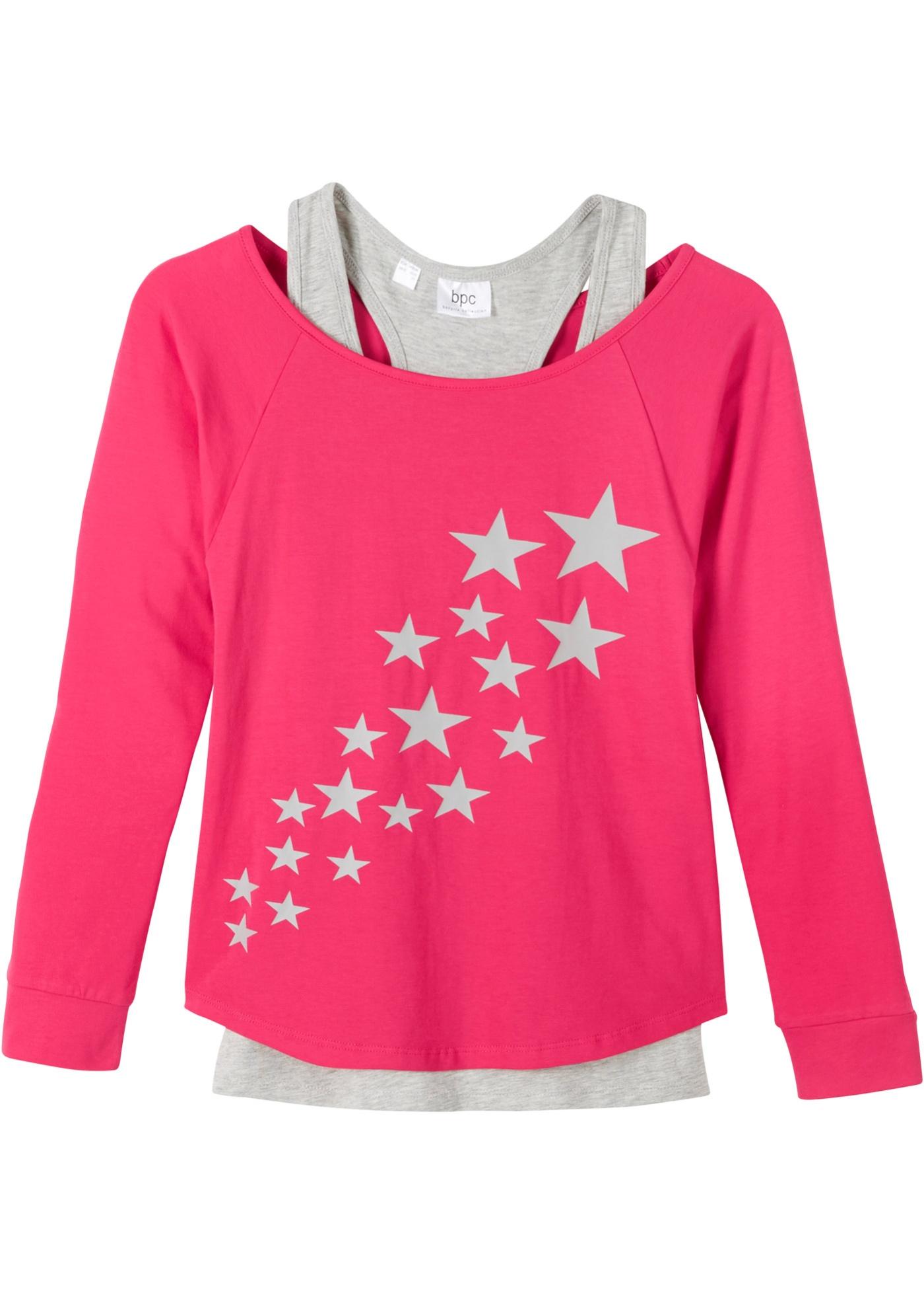 Mädchen Shirt mit Top (2-tlg. Set) aus Bio-Baumwolle