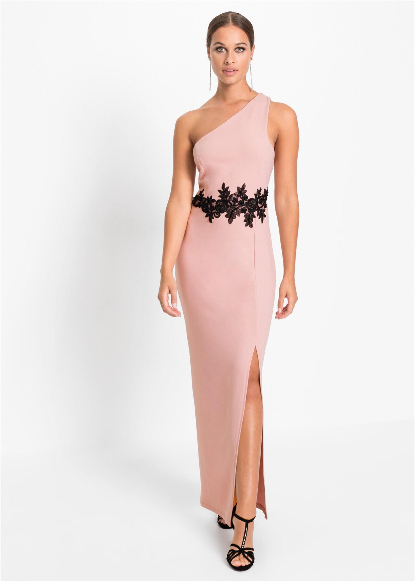 One-Shoulder-Kleid mit Spitze, BODYFLIRT boutique