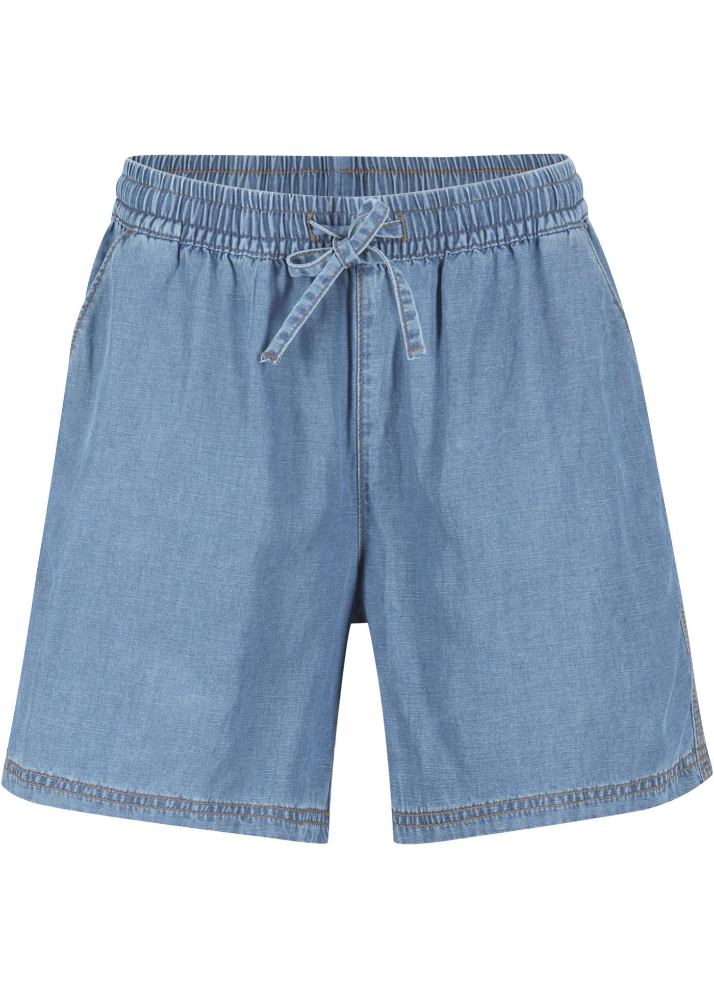 Leichte Denim Shorts mit Tencel ™ Lyocell, extra weit