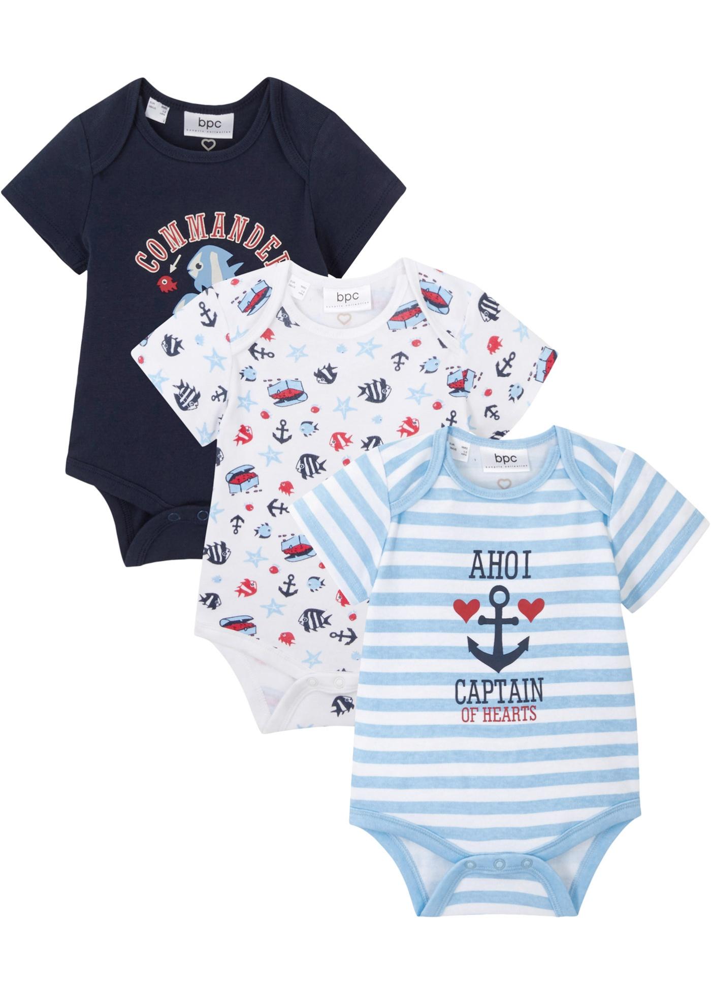 Baby Kurzarmbody (3er Pack) Bio Baumwolle