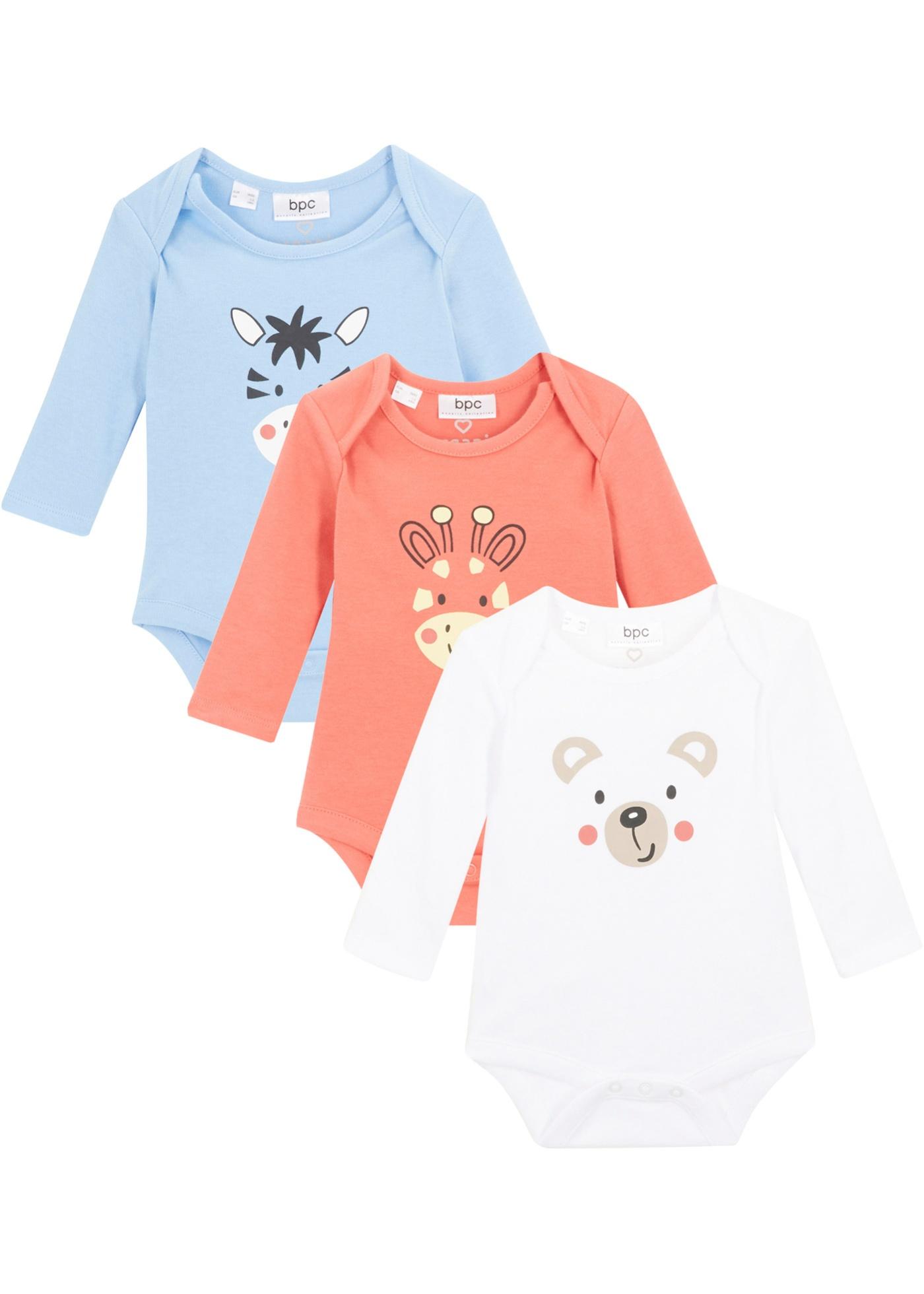 Baby Langarmbody (3er-Pack) aus Bio-Baumwolle