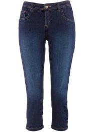 NEU Damen coole Stretch Capri Denim Jeans Bermudas brau blau blue Größe 38 40