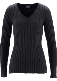 Baumwoll Ripp-Pullover, bpc bonprix collection