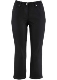 3/4-Stretchhose aus strukturiertem Twill, bpc bonprix collection, schwarz