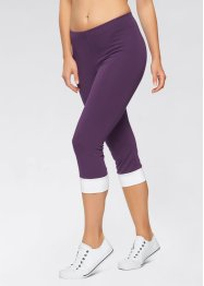 Capri Leggings, bpc bonprix collection, schwarz/aqua