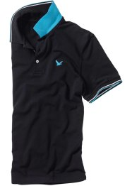 Poloshirt Regular Fit, bpc bonprix collection, schwarz