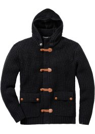 Strickjacke Regular Fit, bpc bonprix collection, schwarz