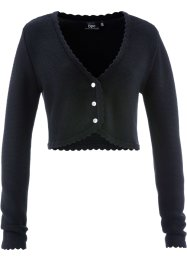 Trachten-Strickjacke, bpc bonprix collection, schwarz