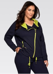 Langarm-Sweatjacke, bpc bonprix collection, schiefergrau