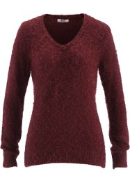 Flausch-Pullover, bpc bonprix collection, ahornrot