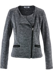 Sweat-Jacke, bpc bonprix collection, anthrazit meliert