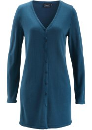 Longstrick-Jacke, bpc bonprix collection, blaupetrol