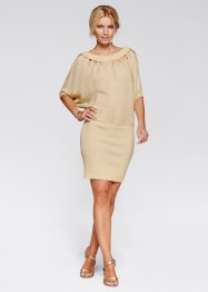 Strickkleid, BODYFLIRT boutique, beige/gold