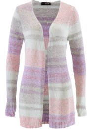 Strickjacke, bpc selection, flieder/pastellmint/weiß/grau