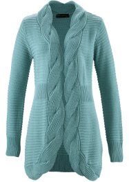 Longstrickjacke, bpc selection, mineralblau