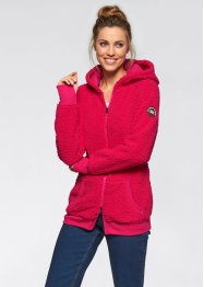 Teddyfleece-Jacke, bpc bonprix collection, rosenrot