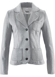 Sweatblazer, bpc bonprix collection, hellgrau meliert