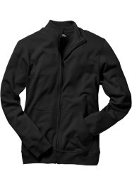 Sweatjacke, Regular Fit, bpc bonprix collection, schwarz